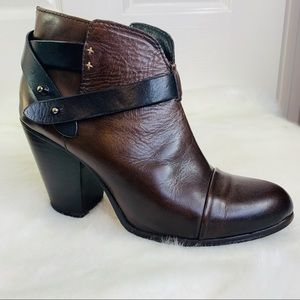 Rag & Bone Harrow Boots Brown Leather Size 40 US10